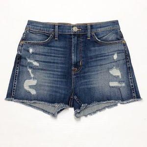 Hudson high rise Soko distressed shorts